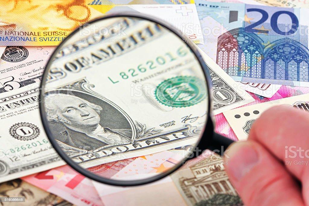 Focus on US Dollar stock photo