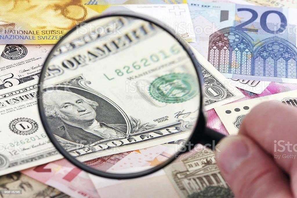 Fokus auf US-Dollar Lizenzfreies stock-foto