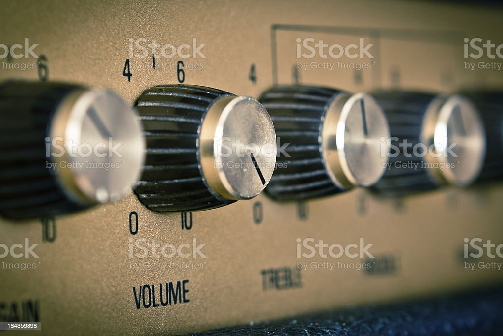 Focus on Volume Knob, Retro Mood stock photo