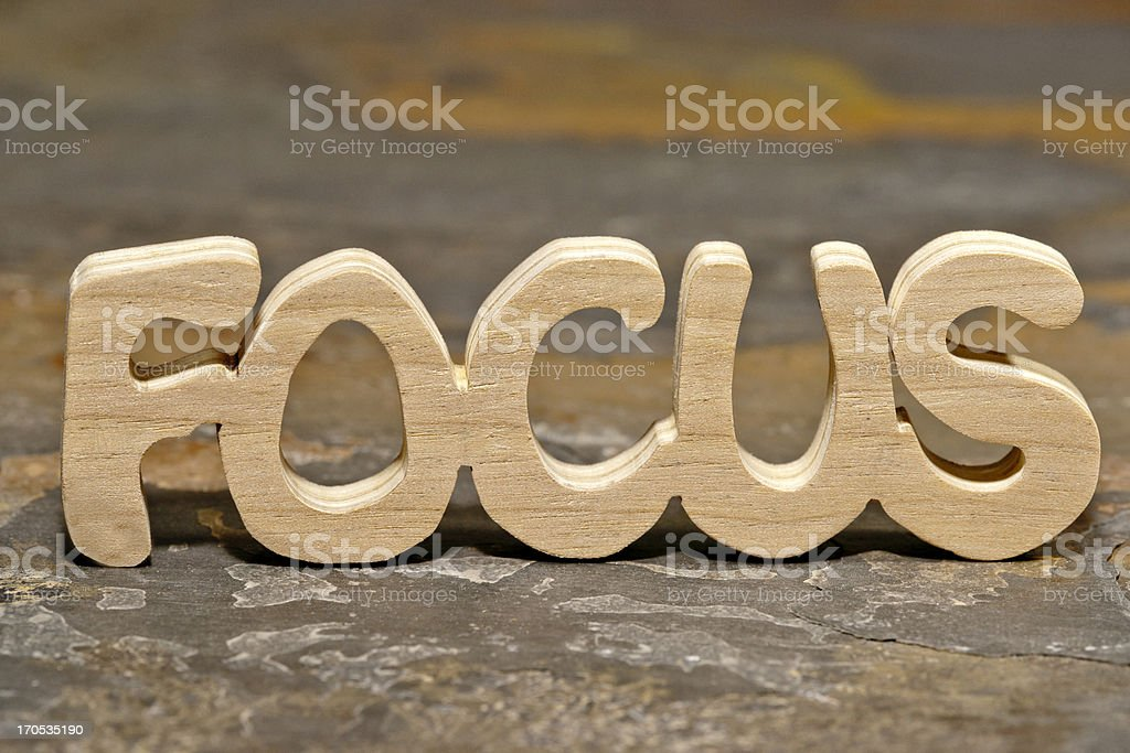 Focus royalty-free stock photo