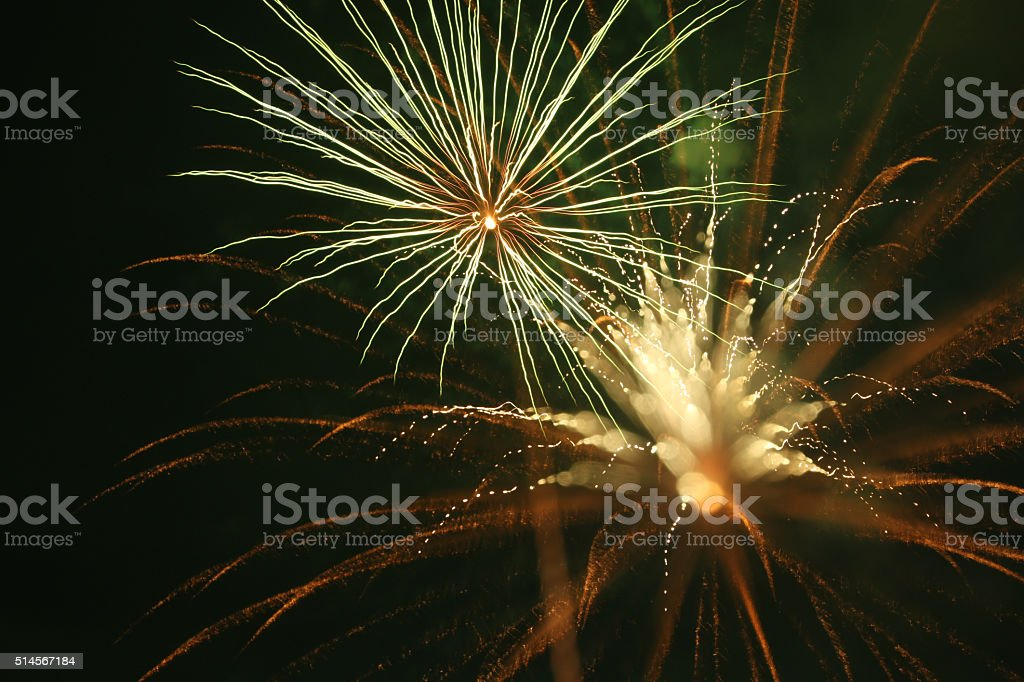 Focus Shift Fireworks stock photo