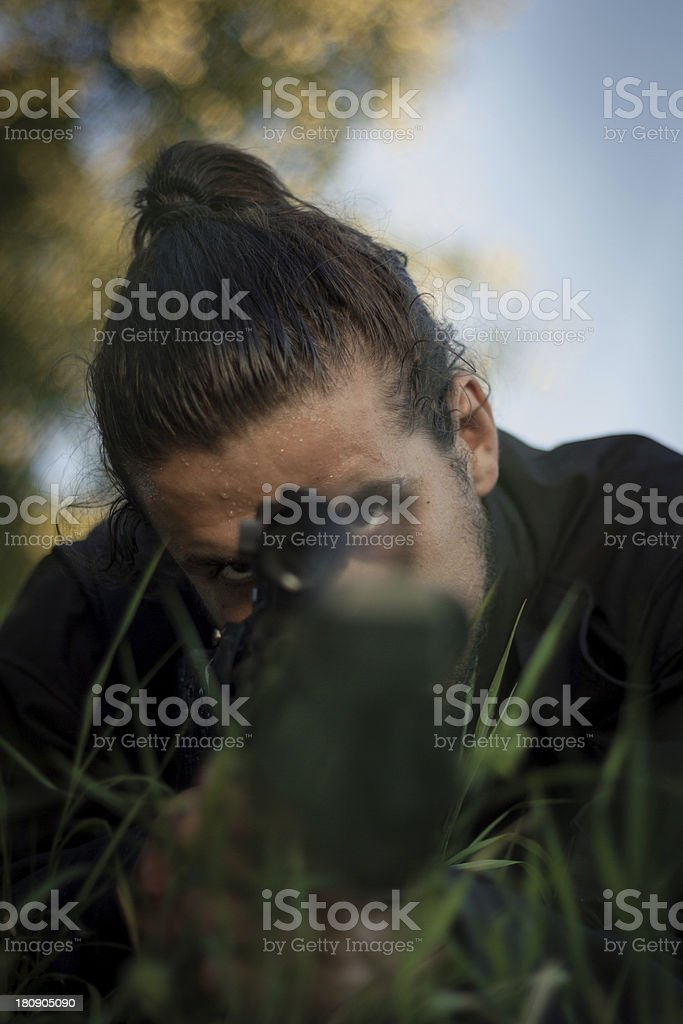 Focus trough the Target royalty-free stock photo