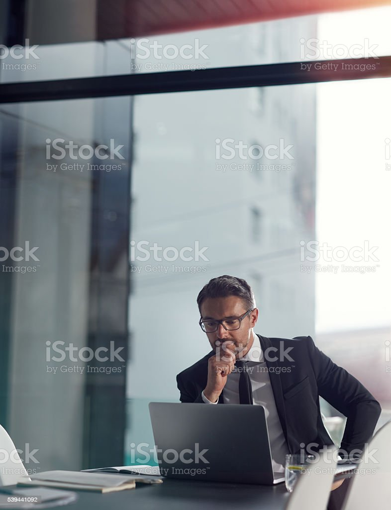 Focused and determined stock photo