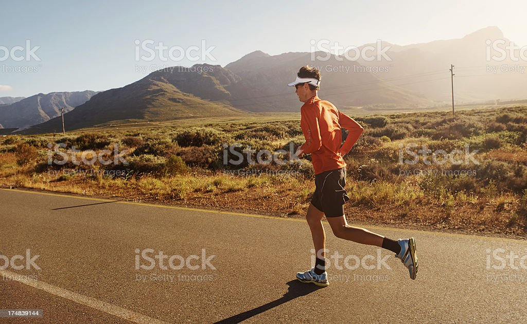 Focused and fit royalty-free stock photo