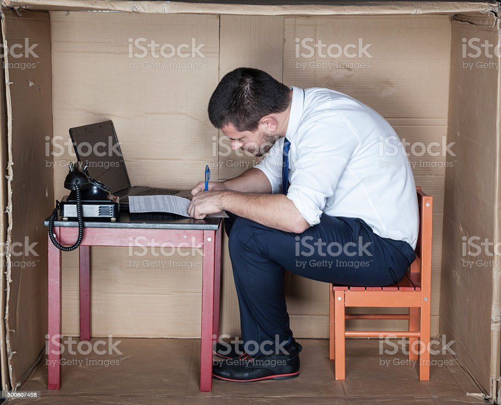 focused businessman signs a contract stock photo
