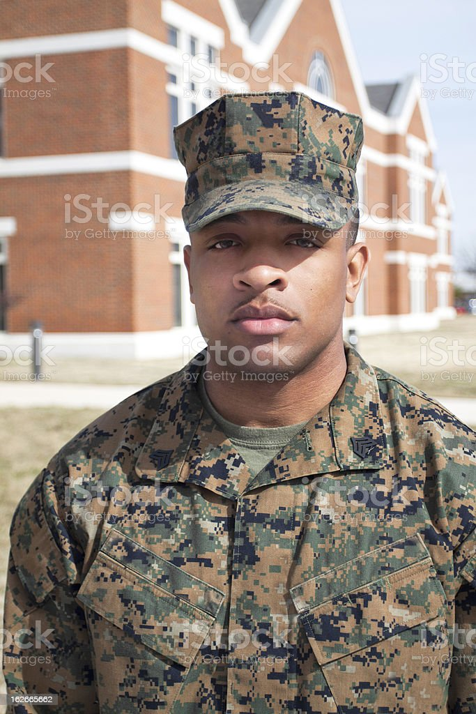 Focused Marine royalty-free stock photo