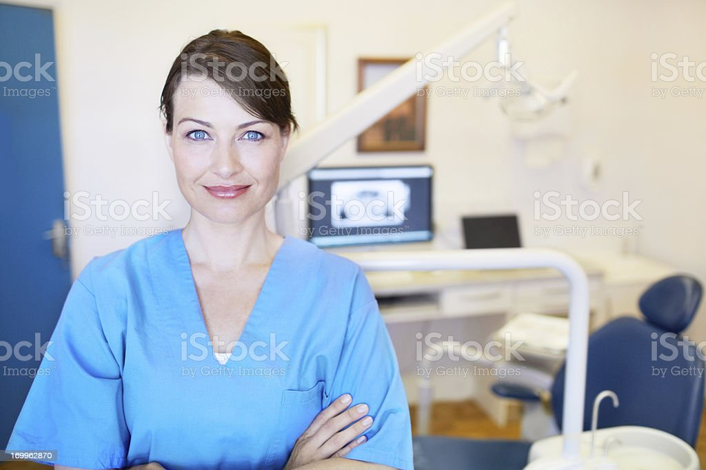 Focused on brilliant dentalcare royalty-free stock photo