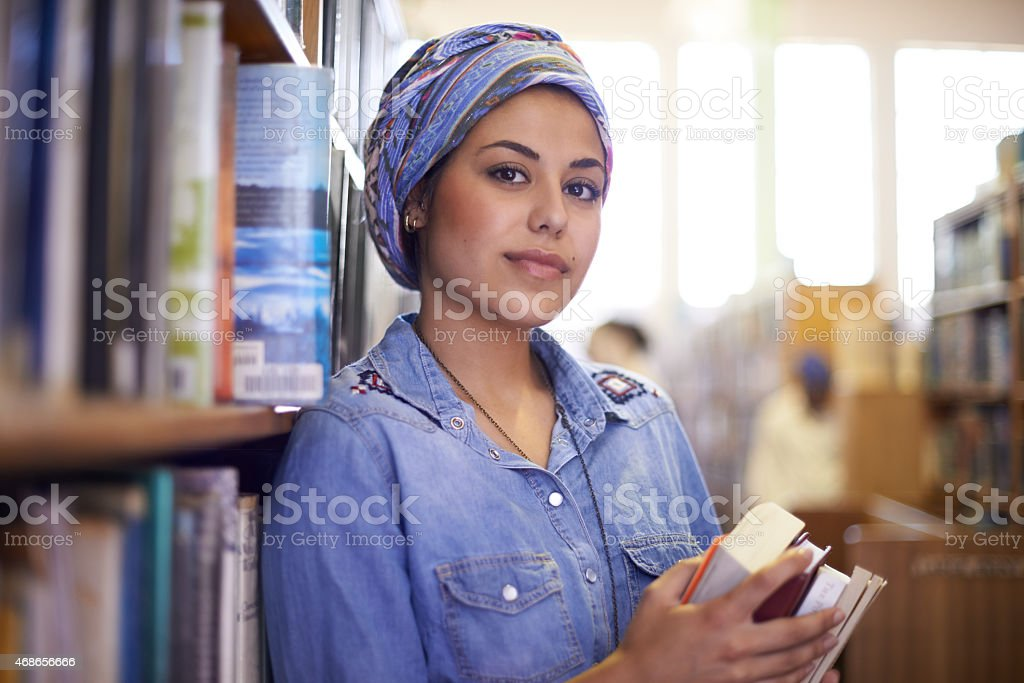Focused on getting straight A's stock photo
