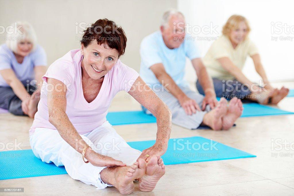 Focused on health stock photo