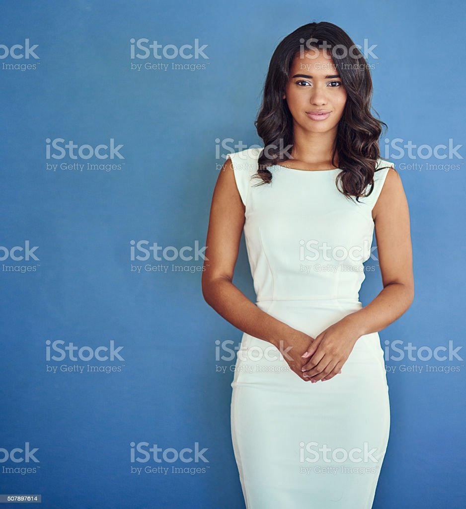 Focused on her business  goals stock photo