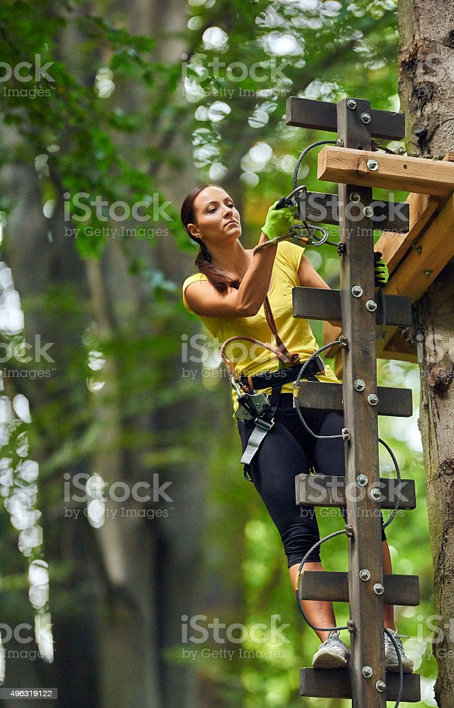 focused on my challenge stock photo