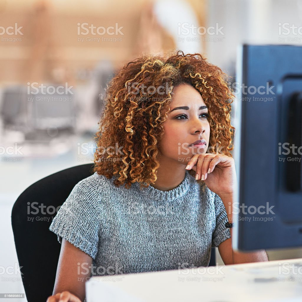 Focused on the deadline stock photo