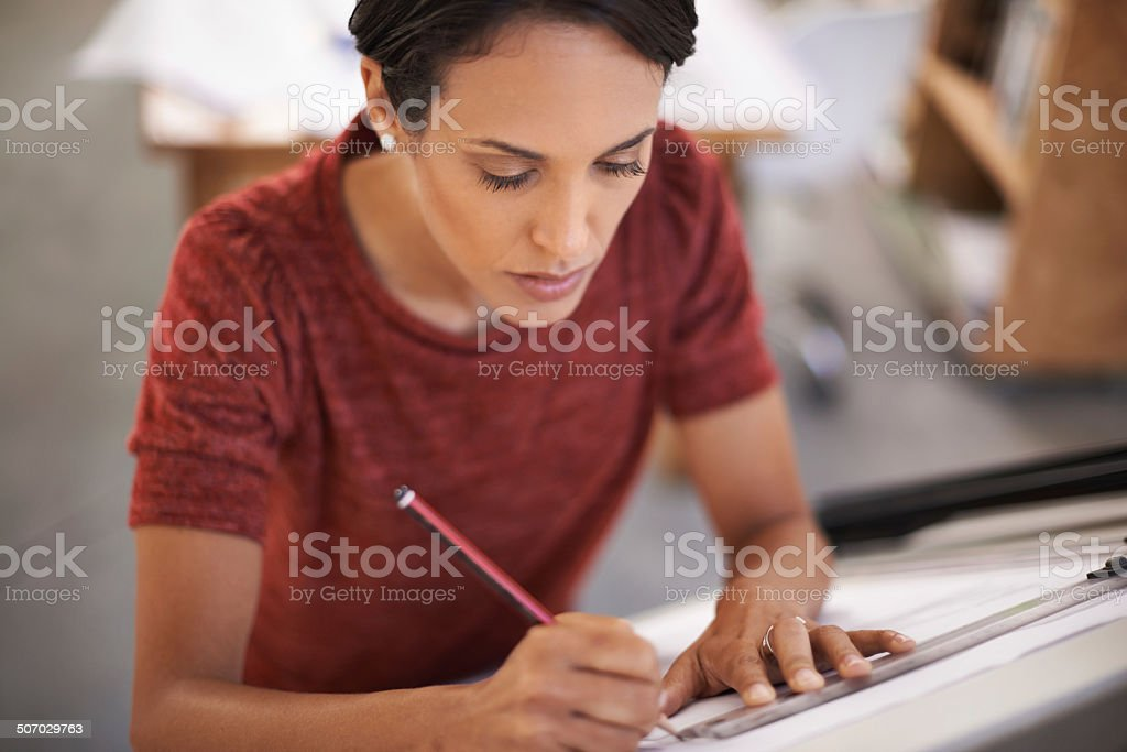 Focused on the fine details royalty-free stock photo