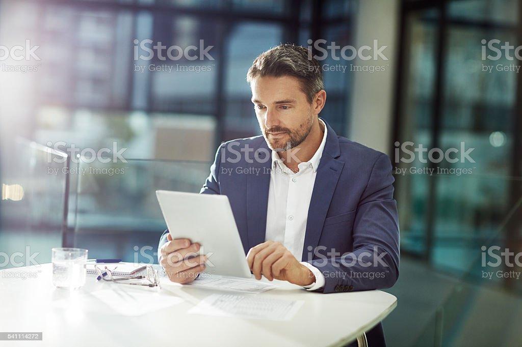 Focused on the job stock photo