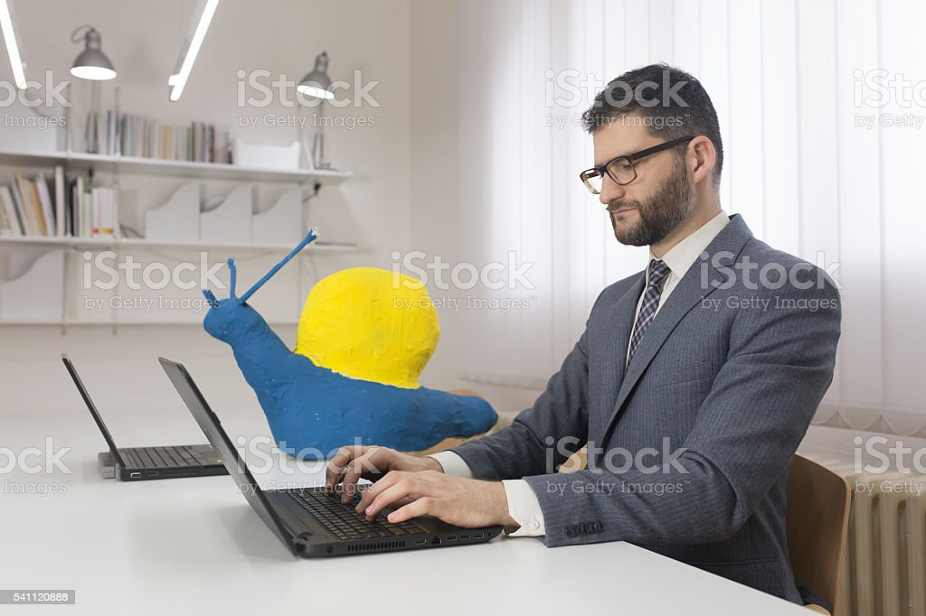 Focused on the job stock photo