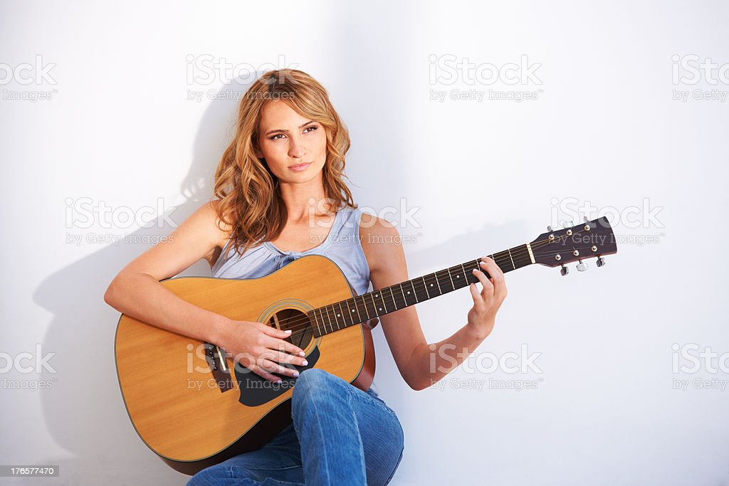 Focused on the melody stock photo