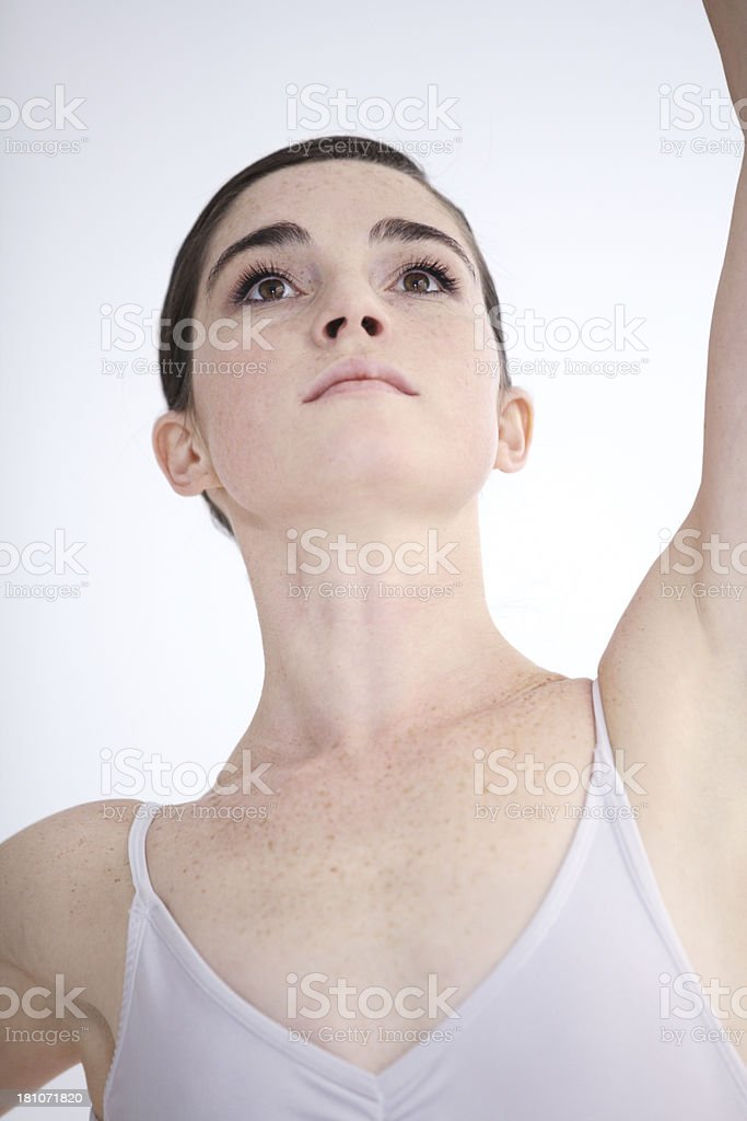 Focused on the performance of a lifetime royalty-free stock photo