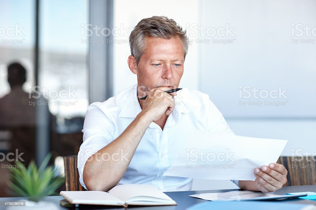 Focused on the plan at hand stock photo