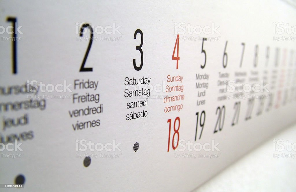Focused on the Weekend royalty-free stock photo