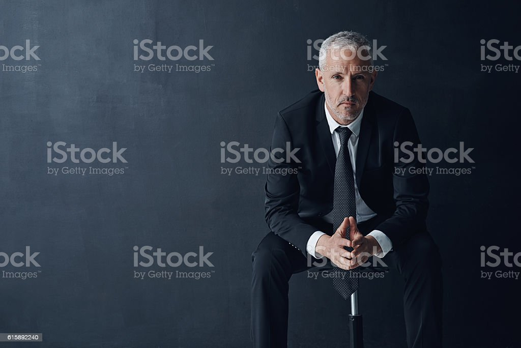 Focused on what's important in business stock photo