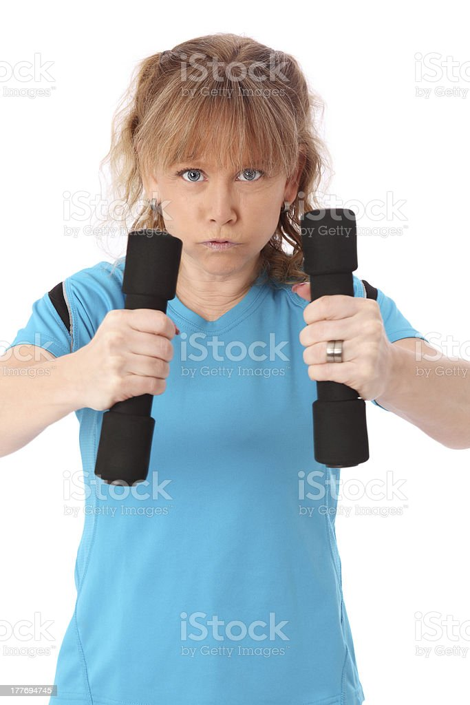 Focused on working out! royalty-free stock photo