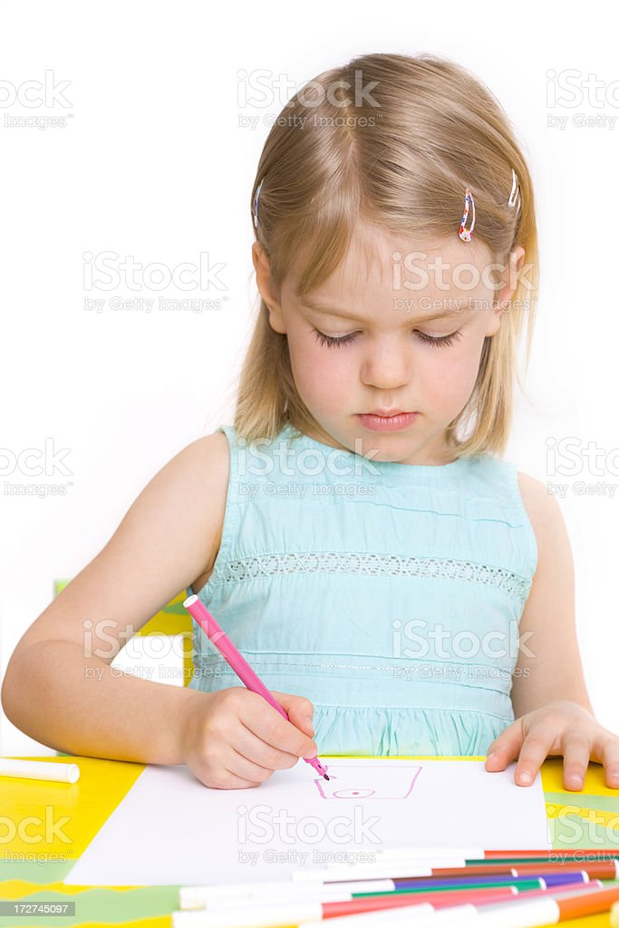 Focussed on the artwork stock photo