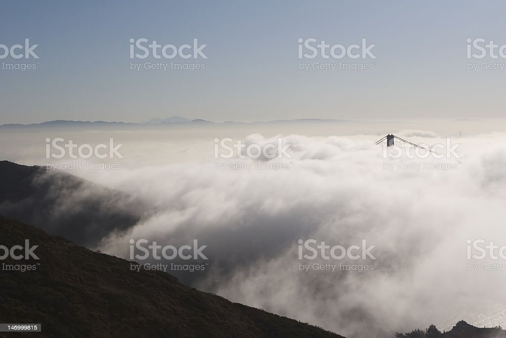 Fog and Hill royalty-free stock photo