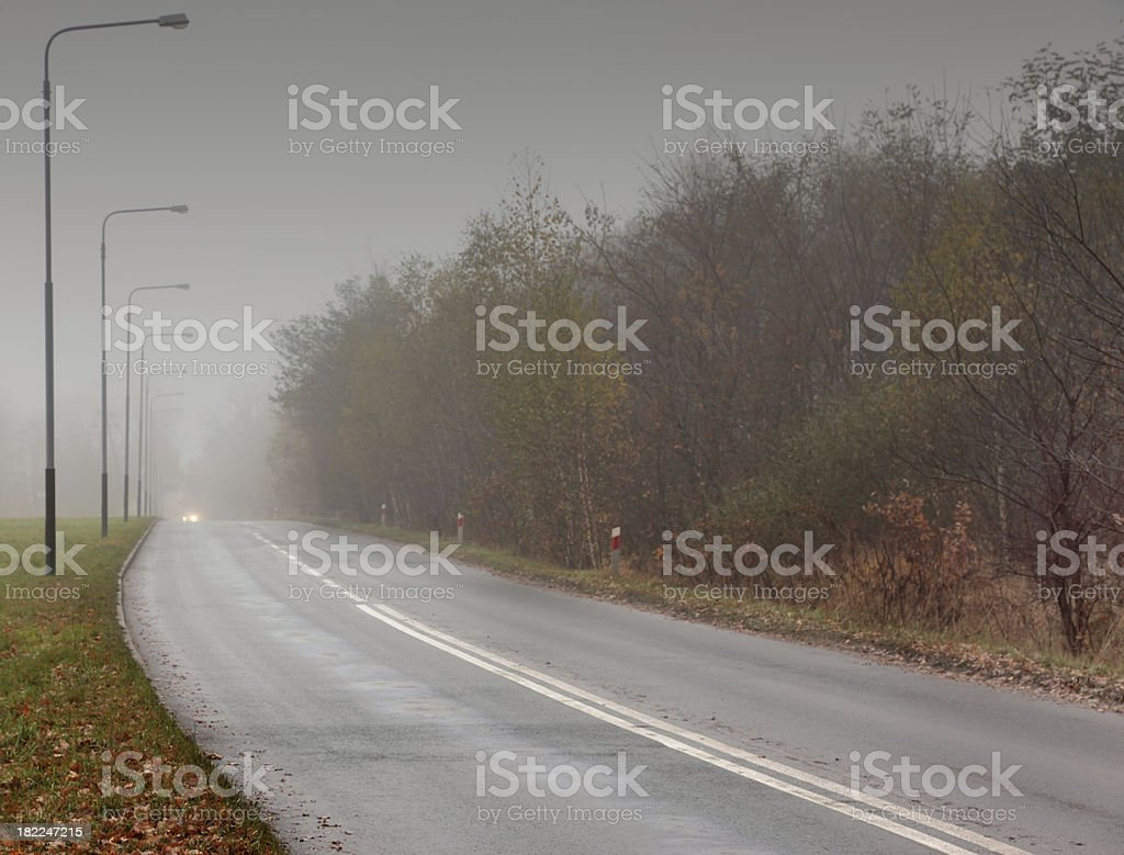 Fog and Road royalty-free stock photo