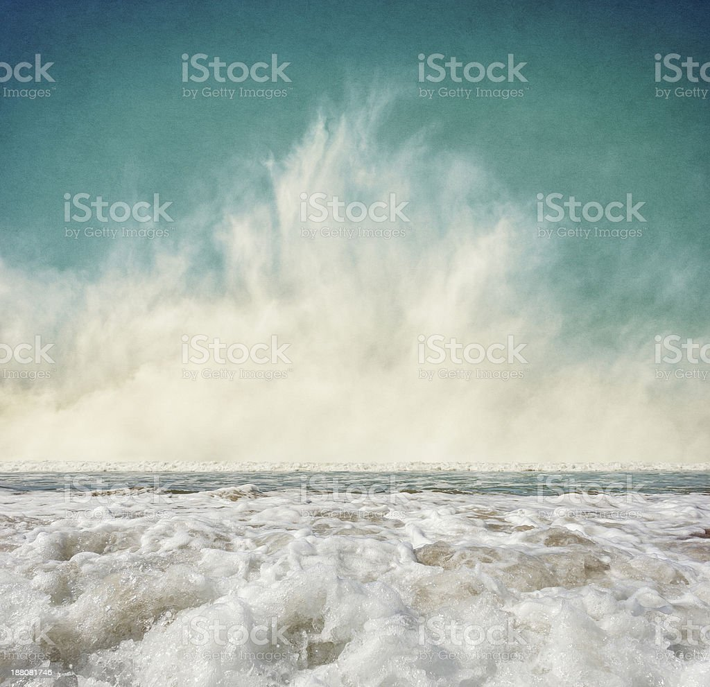 Fog and Surf stock photo
