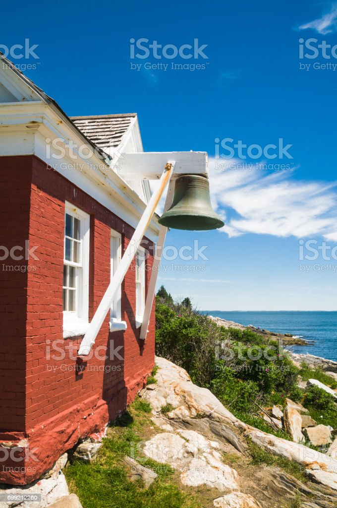 Fog Bell at Pemaquid Point stock photo
