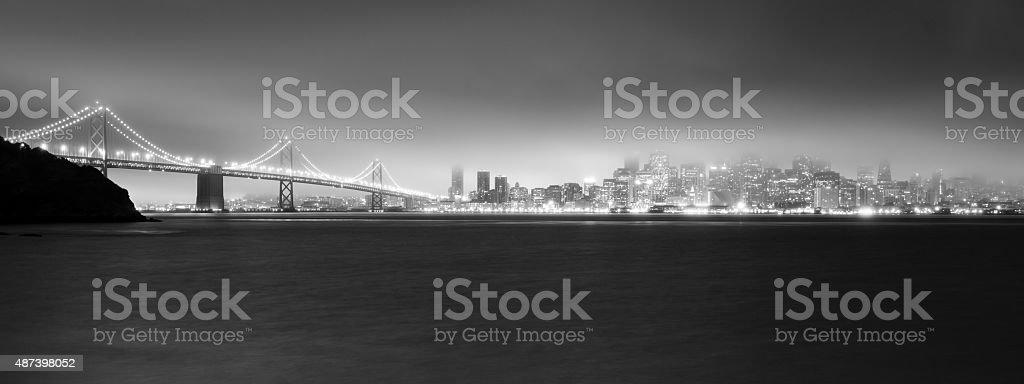 Fog Engulfs San Francisco Bay Downtown City Skyline stock photo
