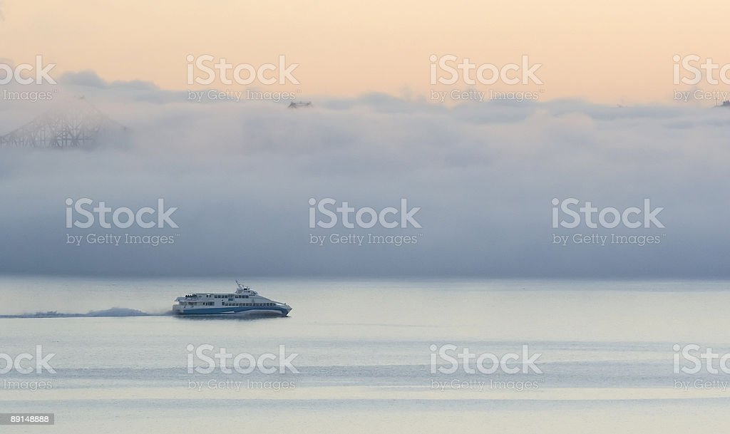 Fog Ferry royalty-free stock photo