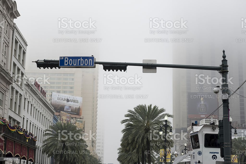 Foggy day in New Orleans royalty-free stock photo