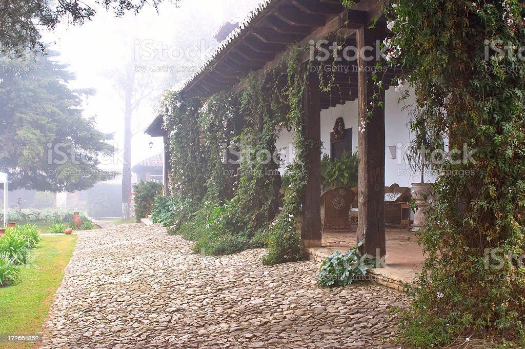 fog hacienda stock photo