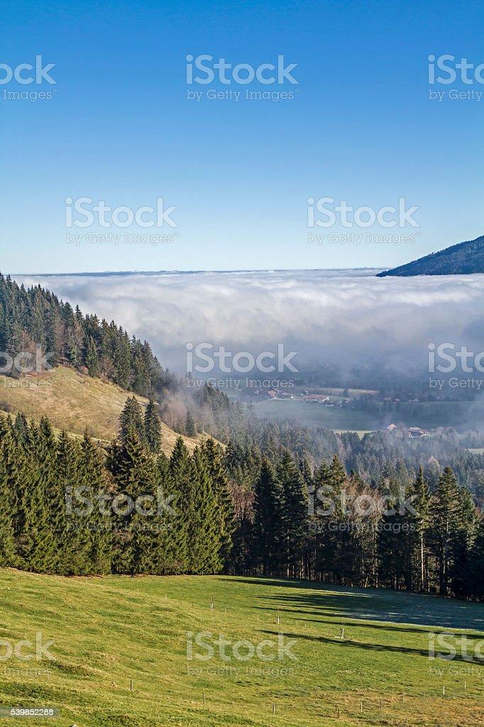 fog in  Isarwinkel stock photo