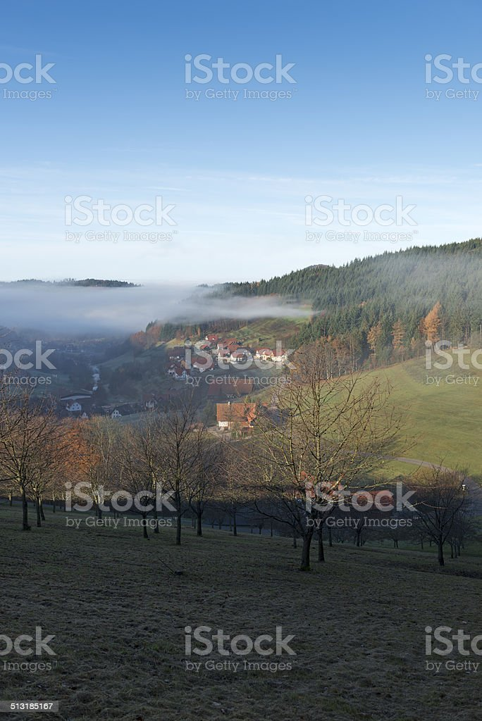 Fog in the vallies / Black Forest stock photo