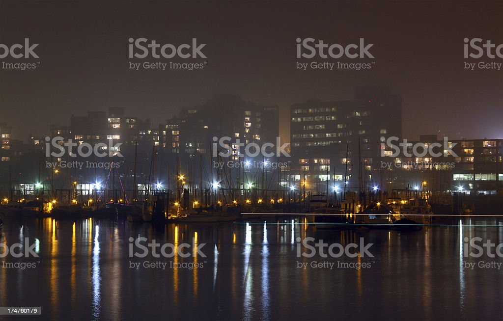 Fog in Vancouver royalty-free stock photo