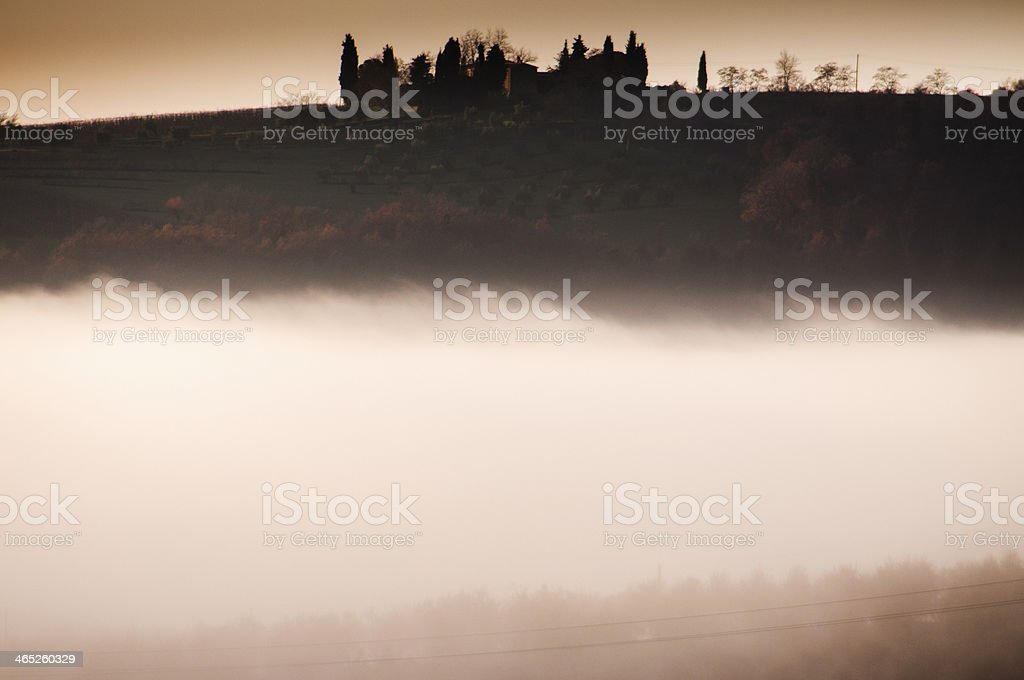 Fog incoming royalty-free stock photo