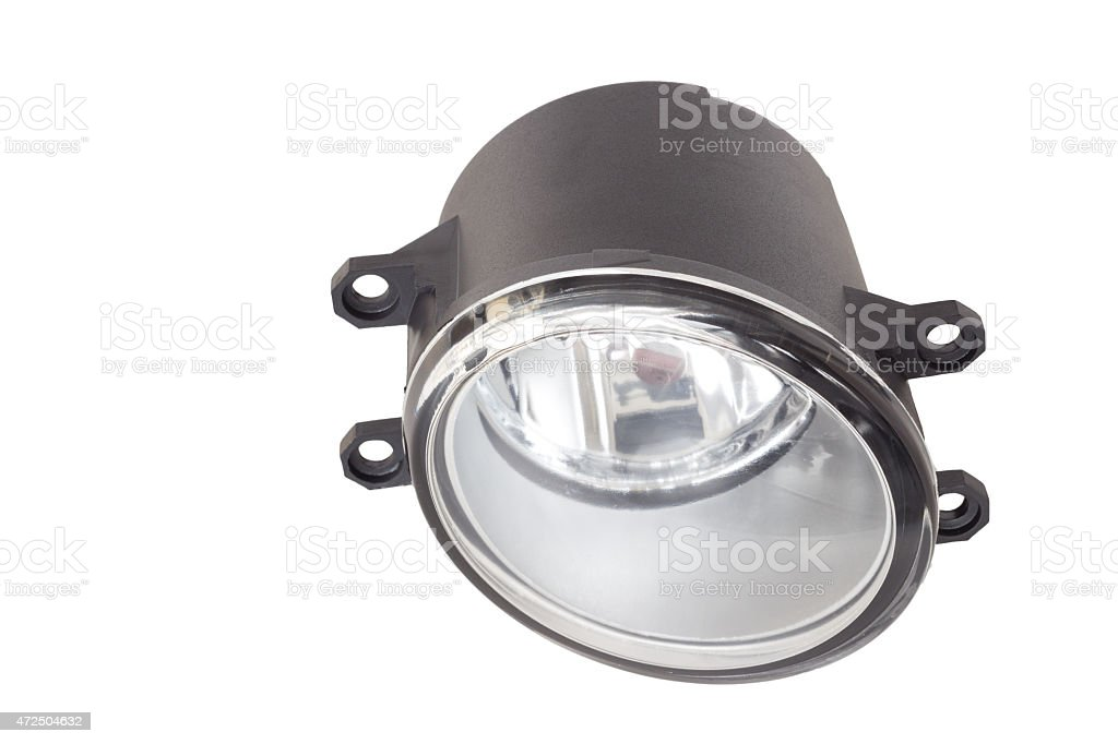 fog lamp on a white background stock photo