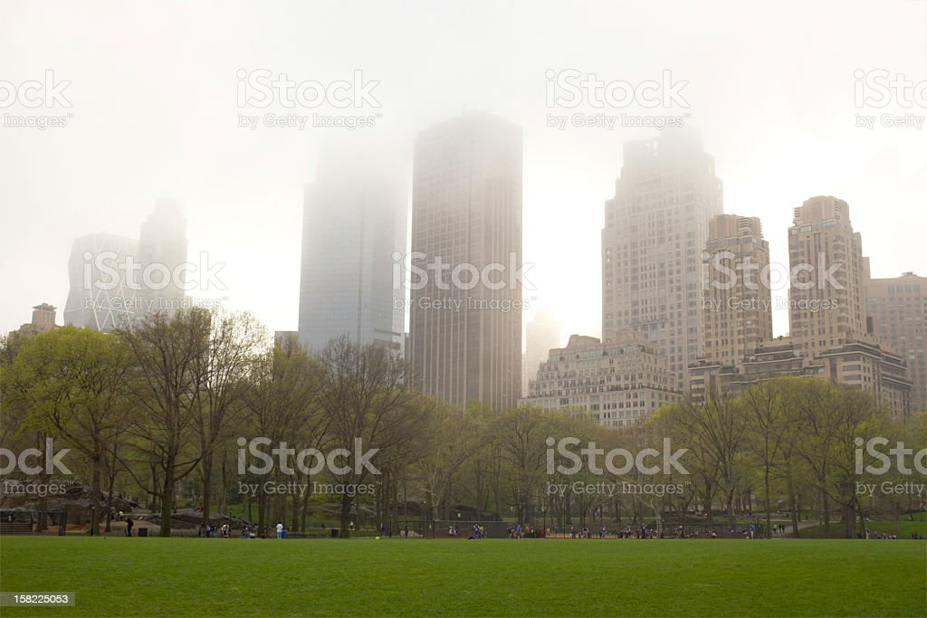 Fog over Central Park, New York royalty-free stock photo
