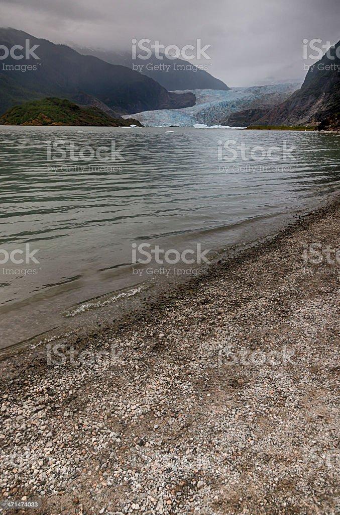 Fog Over Mendenhall Glacier, Juneau, Alaska royalty-free stock photo