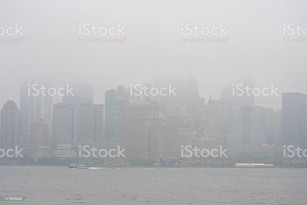 NYC Fog royalty-free stock photo