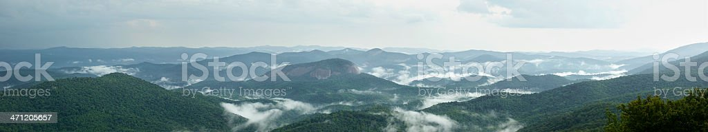 Fog Rising From Valleys After Rain in Southern Appalachian Mountains royalty-free stock photo