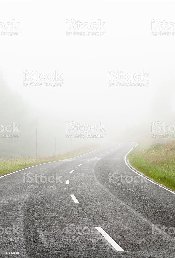 Fog: Road Danger royalty-free stock photo