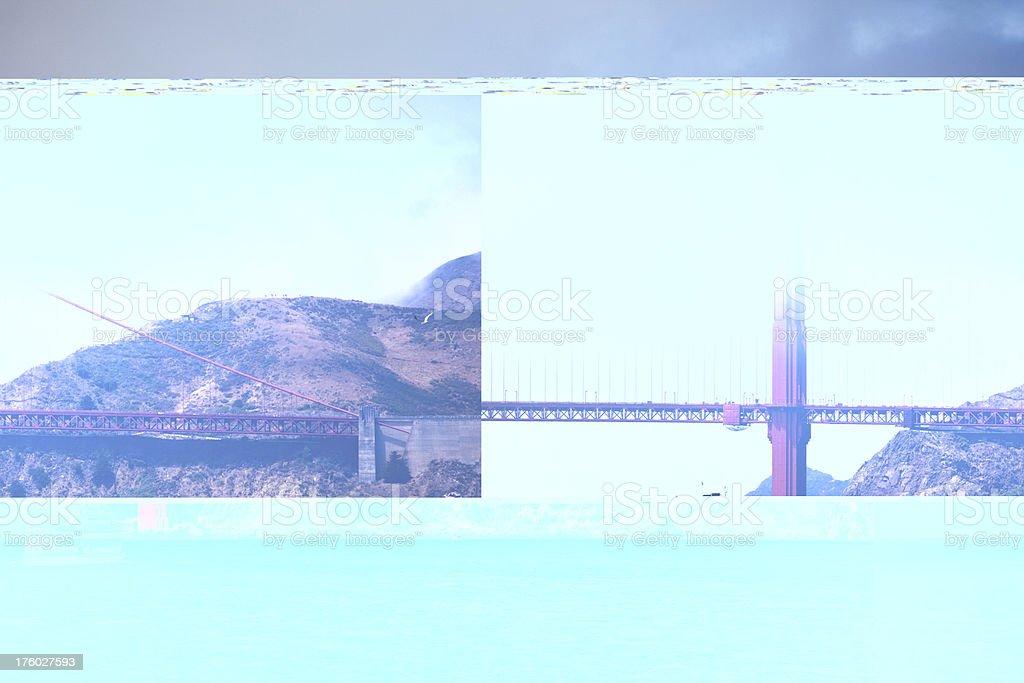 Fog Rolling Over Golden Gate Bridge royalty-free stock photo