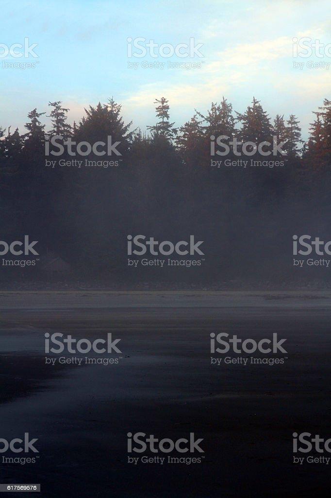 Fog Shrouded Canada stock photo