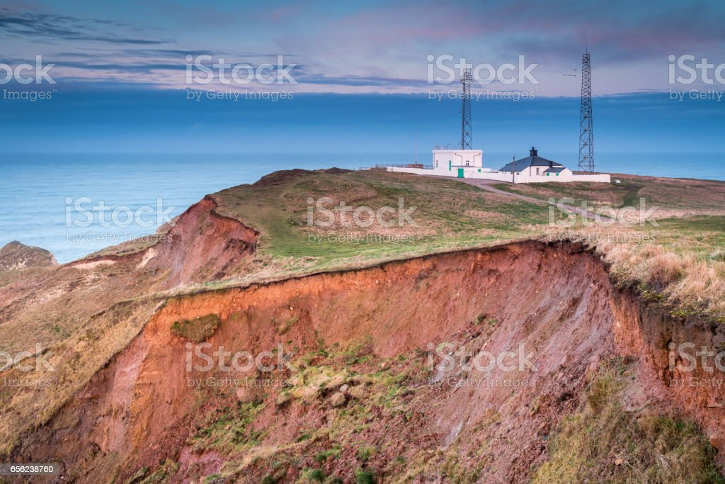 Fog Signal Station on Flamborough Head stock photo