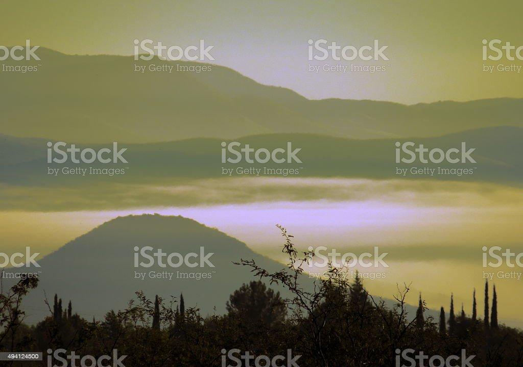 Fog Valley stock photo