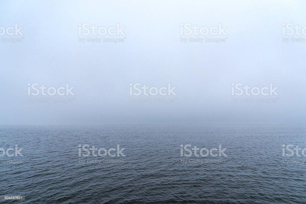 Fog Warning stock photo