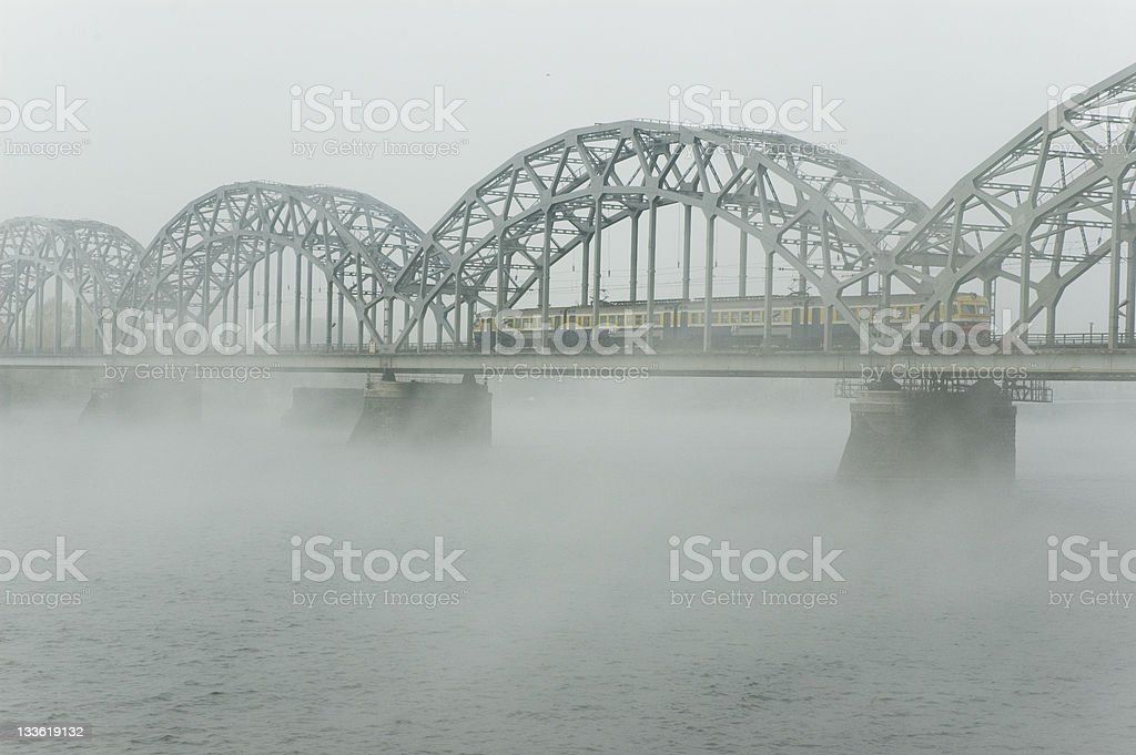 foggy bridge royalty-free stock photo